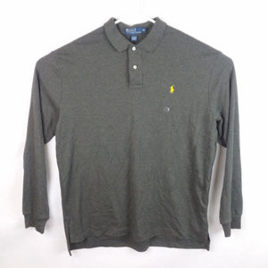 Polo Ralph Lauren Long Sleeve Gray Polo Shirt New